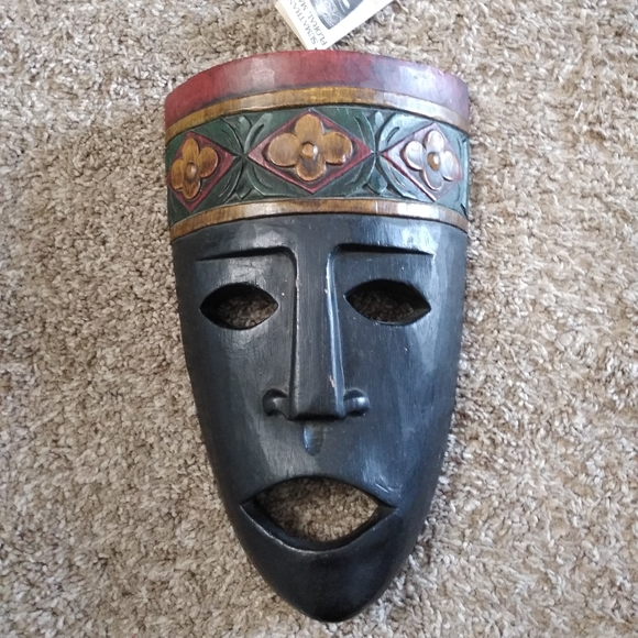 World Market Sumatran Floral Mask Tribal African